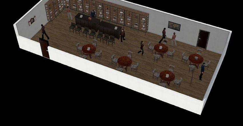 Puzzle bar Interior Design Render