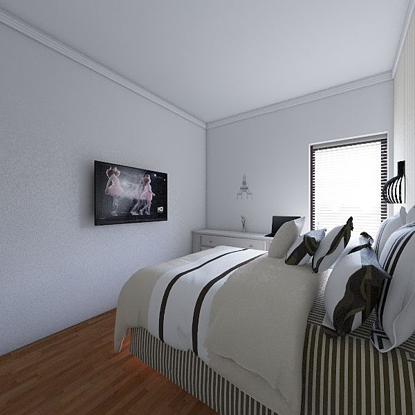 Quarto 102 Interior Design Render