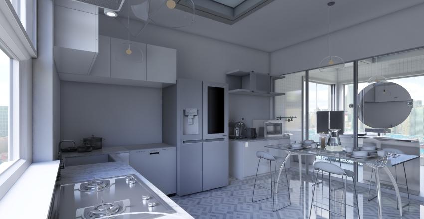 玻璃公寓 Interior Design Render