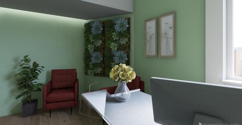 consultório Interior Design Render