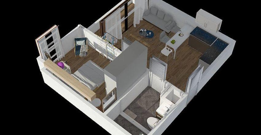 1bed Interior Design Render