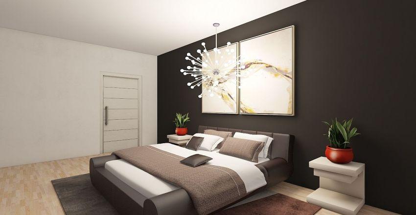 Minimalist One Bed One Bath Design Interior Design Render