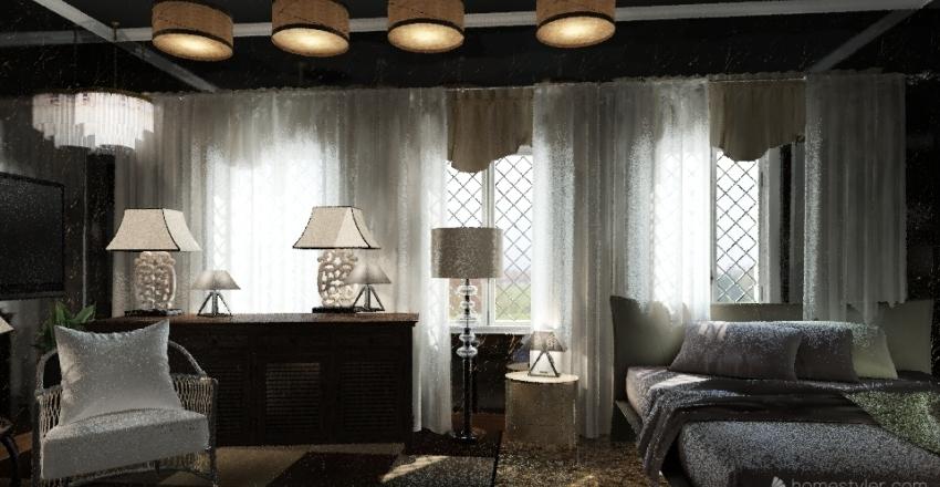 Golden Glow  Interior Design Render