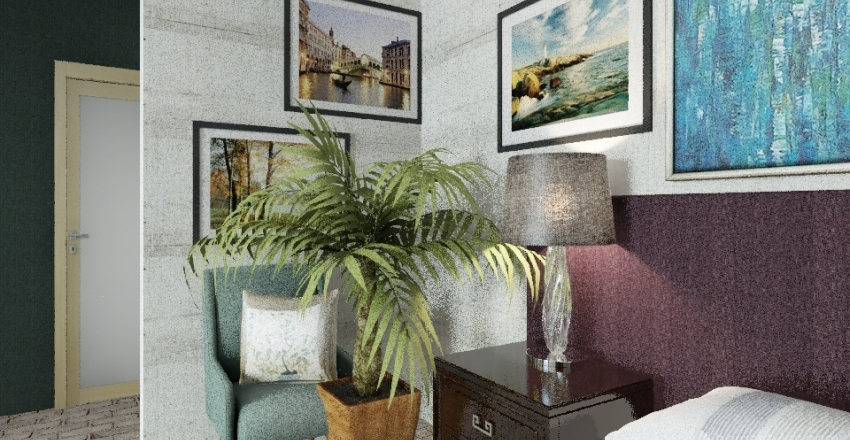 Lounge Bedroom 2 Interior Design Render