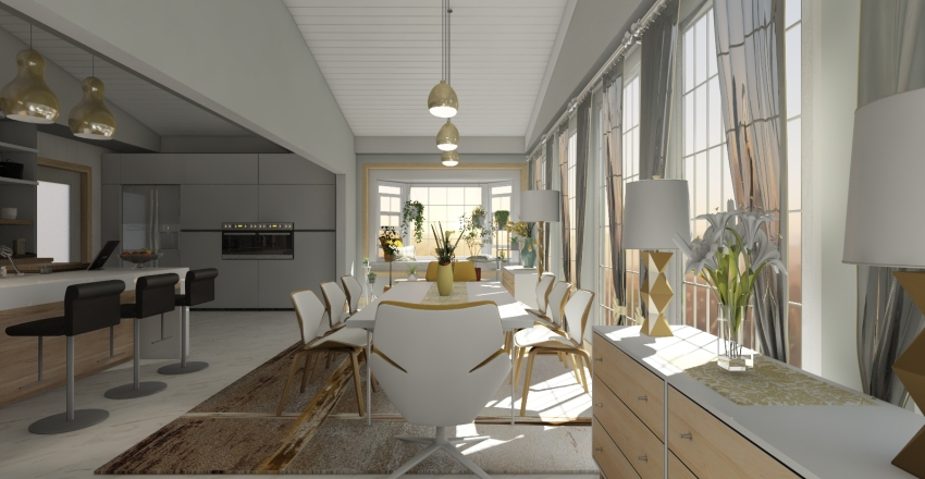 Sunny-side up Interior Design Render