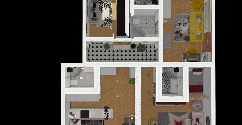Brzozowa 19 - projekt Interior Design Render