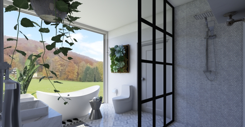 magazine worthy bathroom Interior Design Render