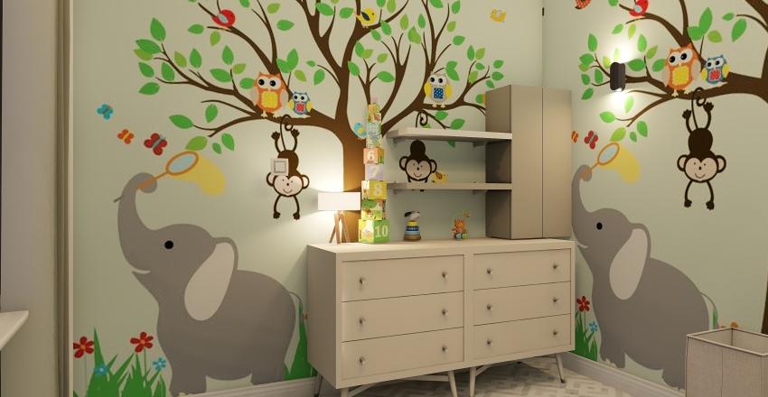 Jungle Baby Room Interior Design Render