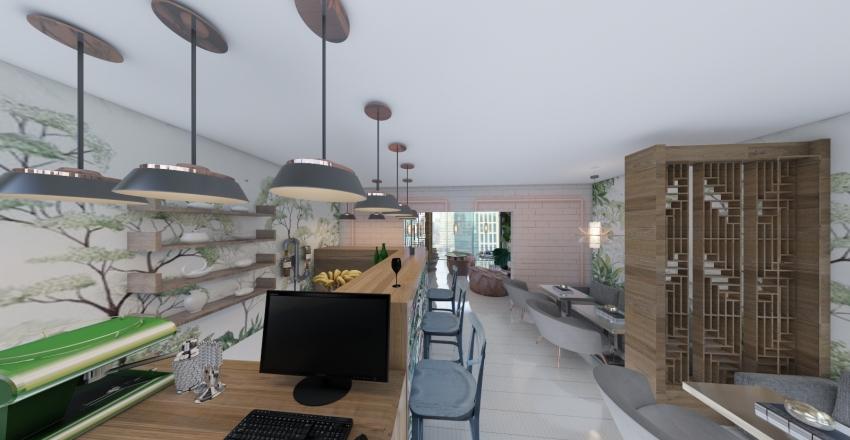 urban gardens bar Interior Design Render
