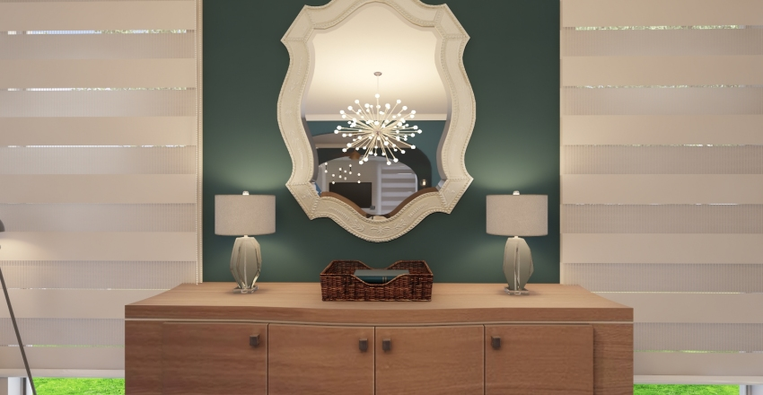 Vintage and Modern Style Merge Interior Design Render