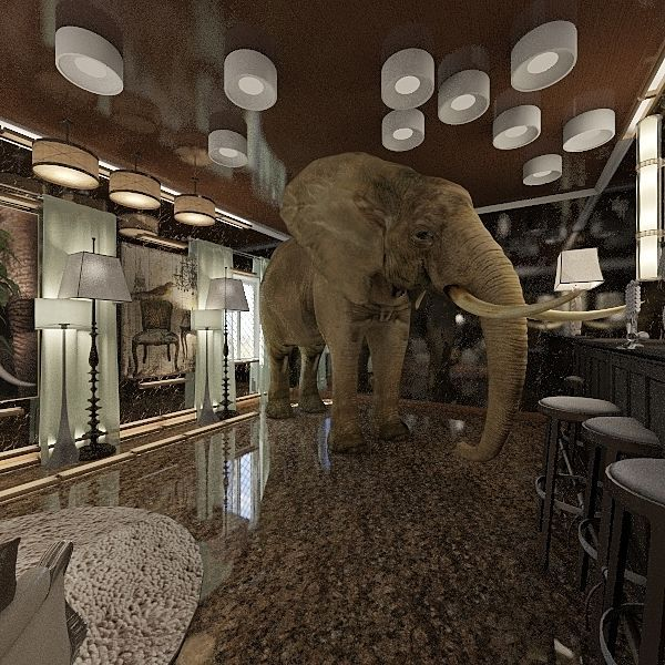The Impossible Elephant Three Interior Design Render