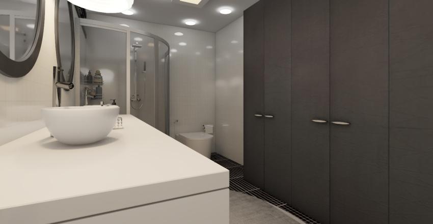 Studio Apartamento Interior Design Render
