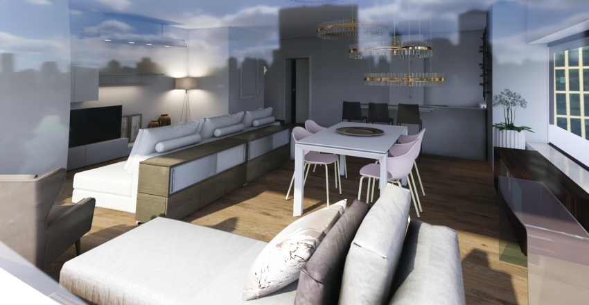 One Manhattan Square Interior Design Render