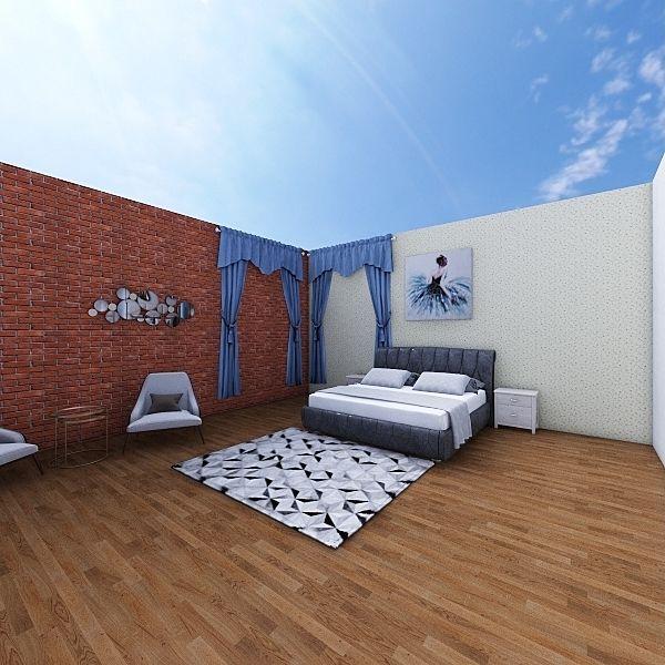 Prasad Guest bedroom Interior Design Render