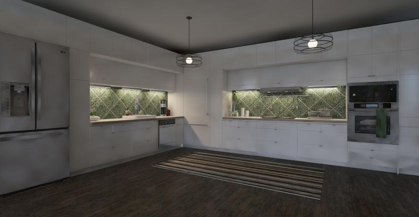 House in green Interior Design Render