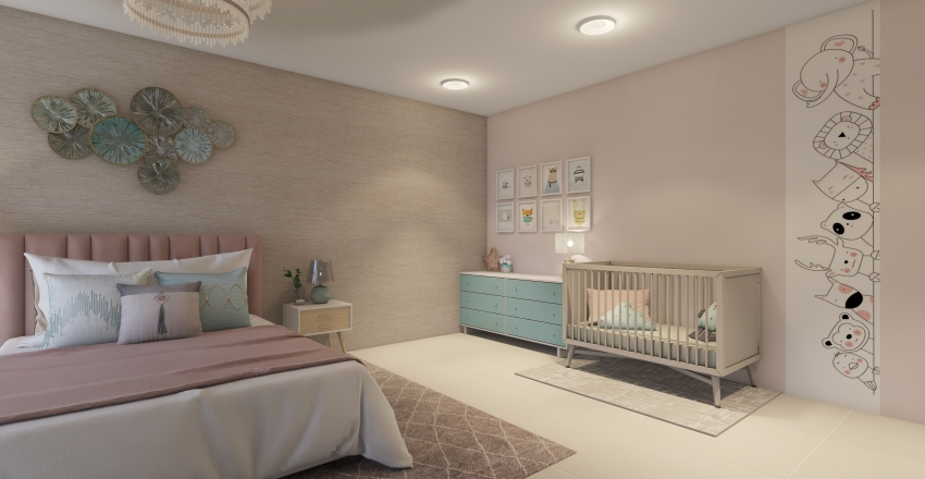 ALCOBA COLECHO Interior Design Render