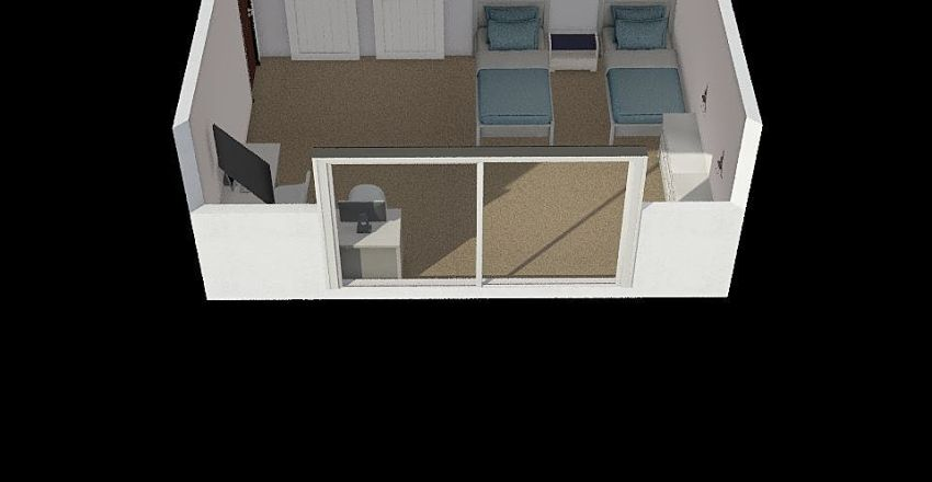 bedroom at moms  Interior Design Render