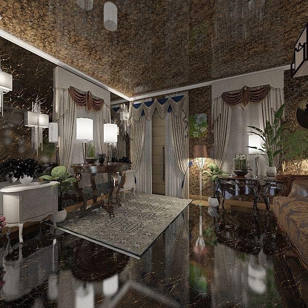 American Victorian Home  Interior Design Render