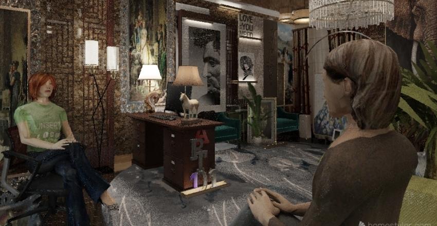 Victoria's Office-  Elegant Design Interior Design Render