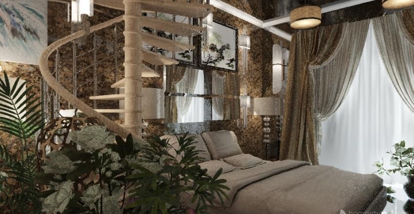 Resting In Beauty-  Bedroom  Interior Design Render