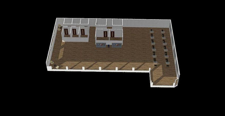 Coworking Interior Design Render