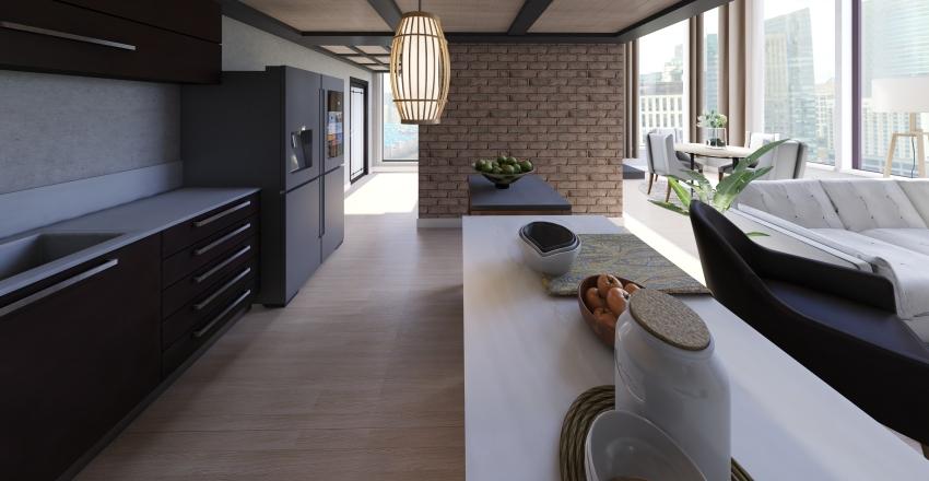 Loft duplex Interior Design Render
