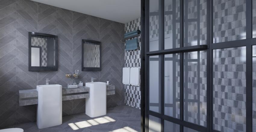 Graphics house level 2: bedrooms Interior Design Render