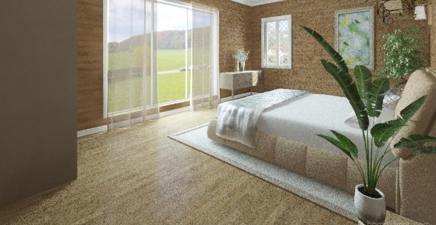 Wooden Interior Design Render