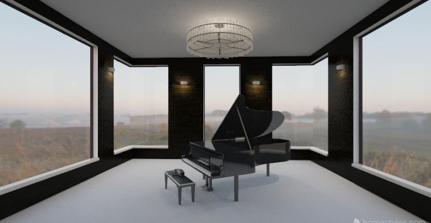 music room Interior Design Render