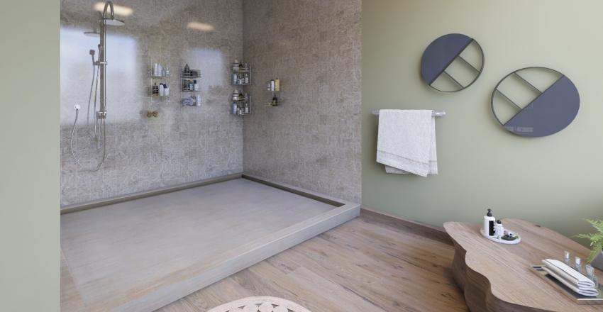Loft Green Interior Design Render