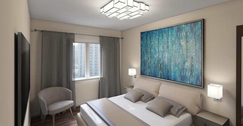 Apartment 2 bed Interior Design Render