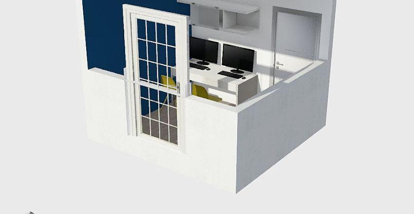 Quarto - Escritório Interior Design Render