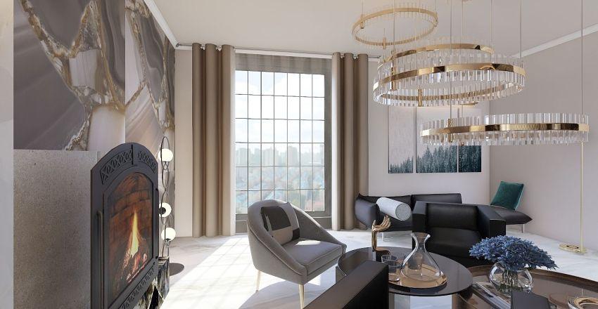living dining space  Interior Design Render