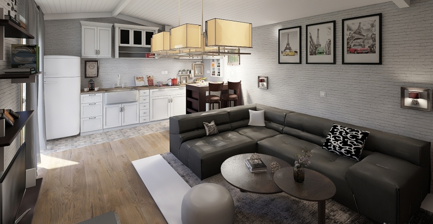 Apartment 50m2 Interior Design Render