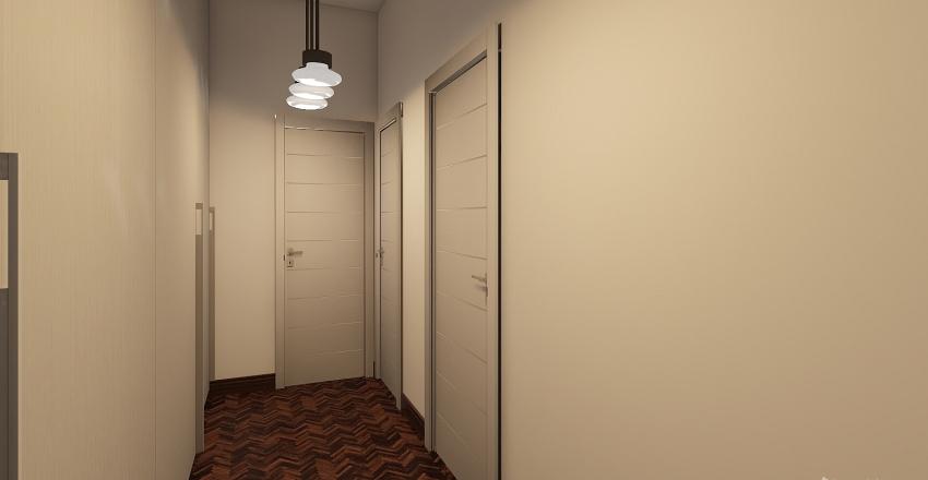 DA BILOCALE A TRILOCALE. LA DIMORA DI UN PITTORE Interior Design Render