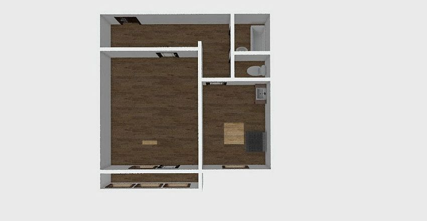1-комн_0306 Interior Design Render