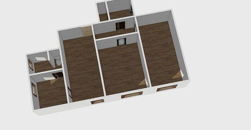 3-комн_002 Interior Design Render
