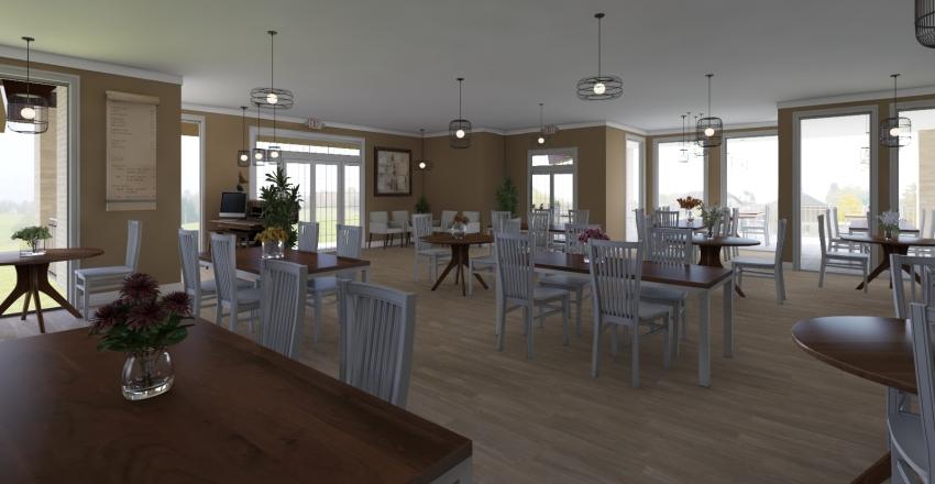 Cozy Restaurant Interior Design Render