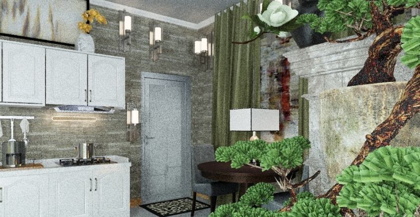 Studio With Spa For Rent-  EXample 1 Interior Design Render
