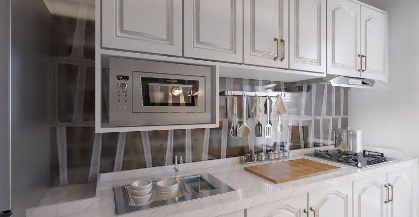 Small modern house Interior Design Render