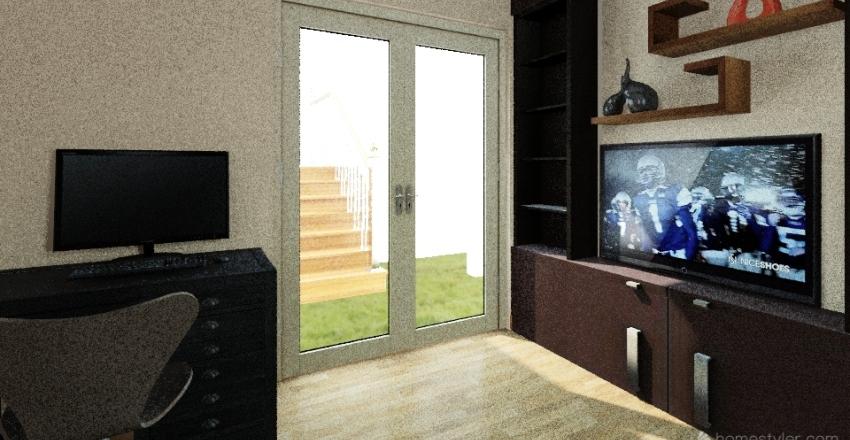 BedRoom-withDblDoor Interior Design Render