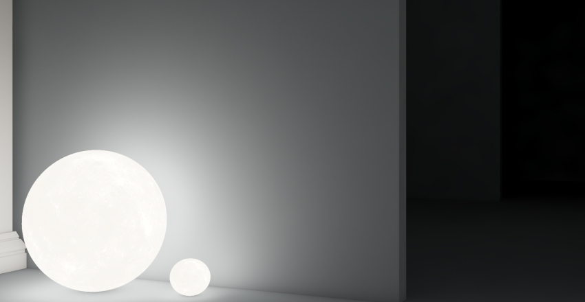 Room of lamps Interior Design Render