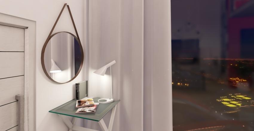 Pink Studio Loft Interior Design Render