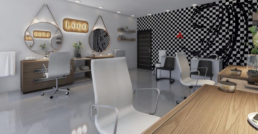 Hair salon Interior Design Render