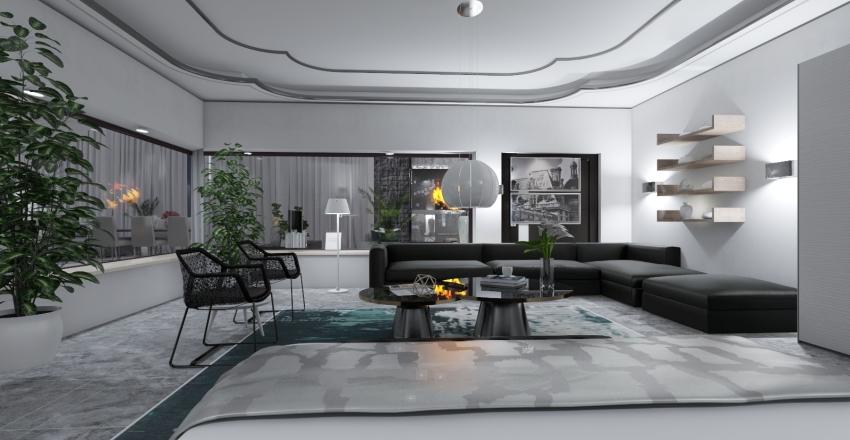 White Fire Interior Design Render