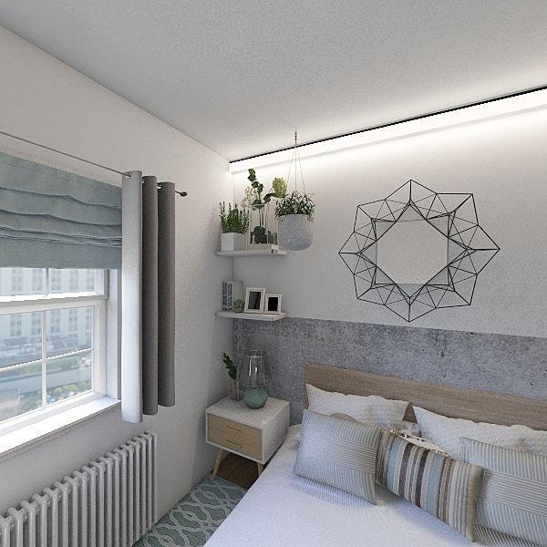 (v) apartament cu doua camere turquoise Interior Design Render