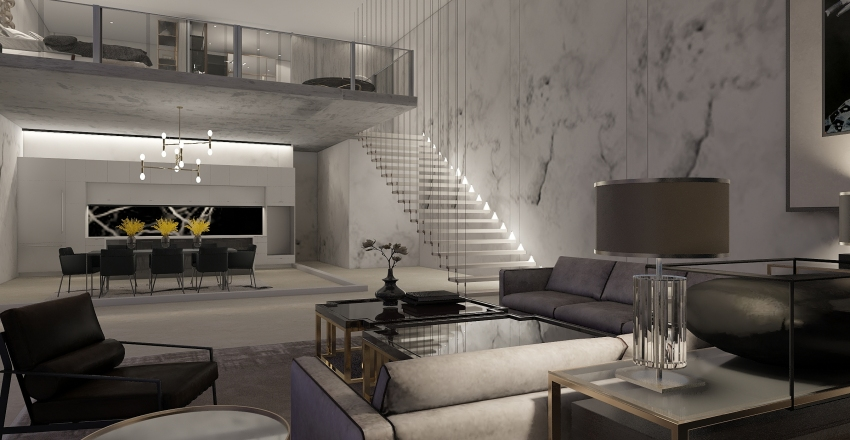 Mason Apartment  Interior Design Render