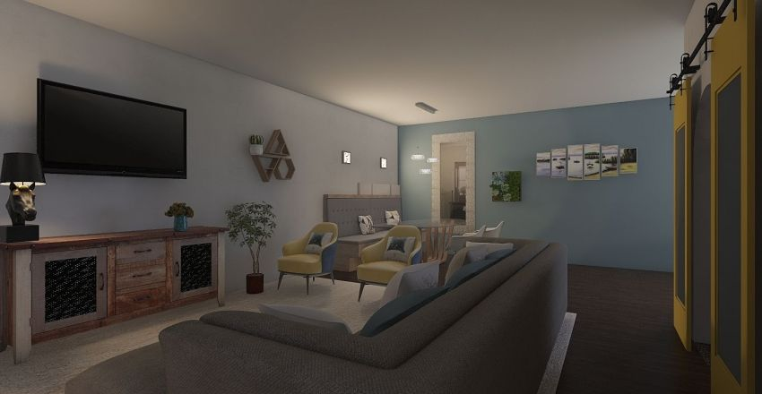 desing contemp Interior Design Render