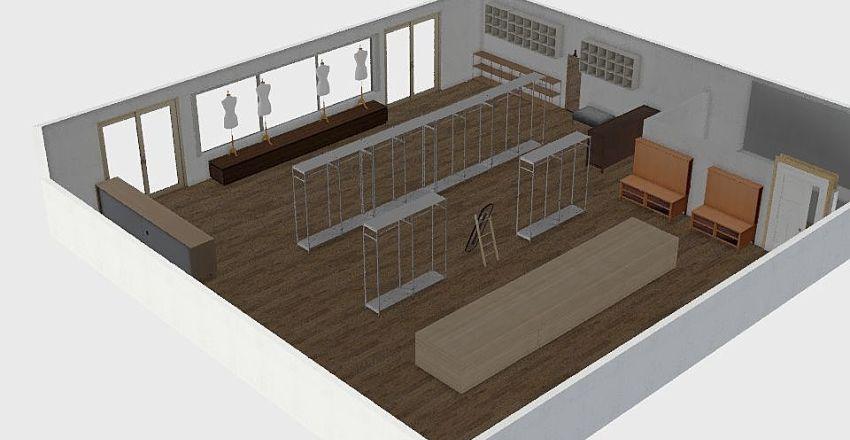 Bazar Interior Design Render