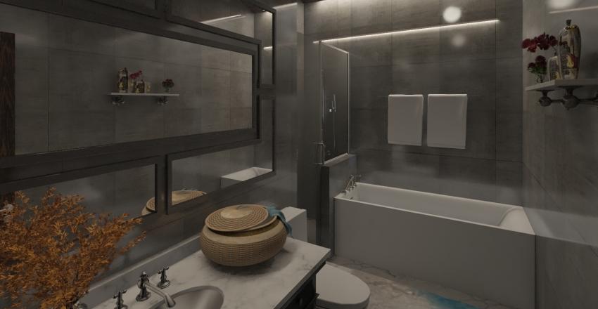 Gray Interior Design Render